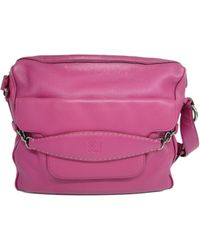 Loewe - Authentic Shoulder Crossbody Bag Pink Leather - Lyst