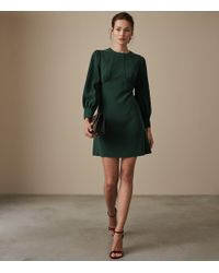 Reiss - Analise - Seam Detail Crepe Dress - Lyst