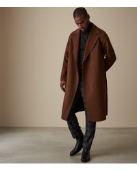 Reiss - Vincent - Wool Belted Overcoat - Lyst