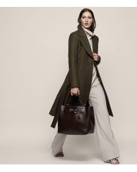 Reiss - Halle Fit And Flare Coat - Lyst