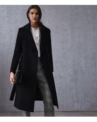 Reiss - Faris Wool Belted Longline Coat - Lyst