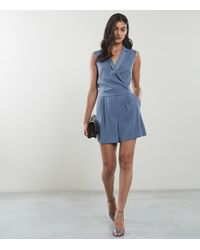 06164cd82e6 Reiss - Freda - Tux Front Playsuit - Lyst