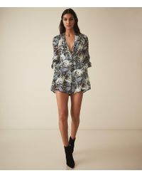 76abcf7d22d Lyst - Showpo Grass Aint Greener Playsuit In White Floral in Gray