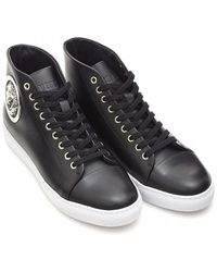 Versus - Silver Lion Trainers, High Top Black Trainers - Lyst