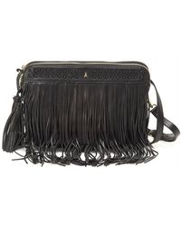 Patrizia Pepe - Black Leather Effect Tassel Tote Bag - Lyst