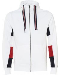 Tommy Hilfiger - Crest Back Hoodie, Bright White Hooded Sweatshirt - Lyst