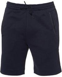 BOSS - Headlo Jersey Navy Blue Track Shorts - Lyst