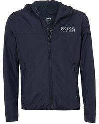 BOSS - Jeltech Jacket, Reflective Branding Navy Jacket - Lyst