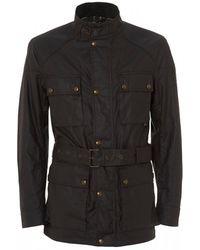 Belstaff - Roadmaster Waxed Jacket, Deep Muave Cotton Jacket - Lyst