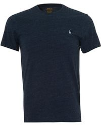 Ralph Lauren - Plain T-shirt, Navy Heather Short Sleeve Tee - Lyst