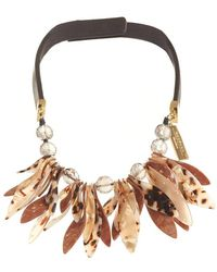 Weekend by Maxmara - Perigeo Necklace, Black Brown Petal Choker - Lyst