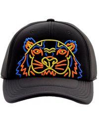 KENZO - Neoprene Neon Tiger Baseball Cap, Black Neon Hat - Lyst