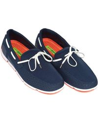 Swims - Breeze Lace Loafer, Lace Trim Navy Blue Shoes - Lyst