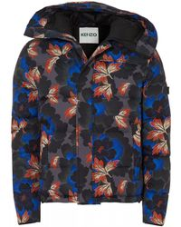 cbcacfca5 KENZO - Floral Printed Padded Blousson Jacket - Lyst