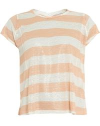 I Blues - Decreto Top, Peach White Candy Stripe T-shirt - Lyst