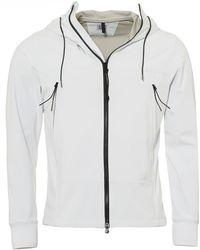C P Company - Soft Shell Jacket, Goggle Fixed Hood Off White Jacket - Lyst
