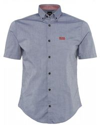 BOSS - Gray Regular Fit Biadia_r Shirt - Lyst