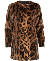 I Blues | Result Coat, Animal Print Textured Jacket | Lyst