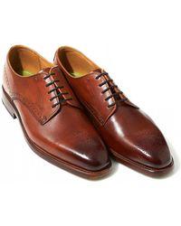 Oliver Sweeney - Latherton Dark Tan Derby Shoes - Lyst