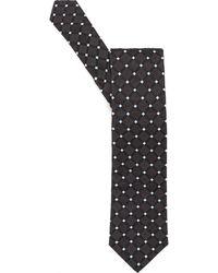 BOSS - Tie, Diamond Square Pattern Charcoal Grey Silk Tie - Lyst