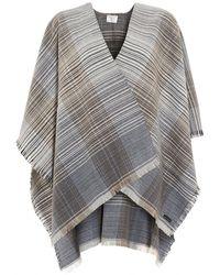 Fraas | Ruana Narrow Classic Woven Blue Poncho | Lyst