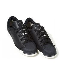 pretty nice f751e 43d98 Y-3 - Super Knot Logo Trainers, Black Leather Sneakers - Lyst