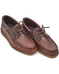 BOSS Tuned_mocc Lace Rust Leather Moccasins - Brown