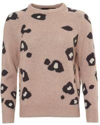 360cashmere - Courtney Jumper, Animal Print Rose Quartz Sweater - Lyst
