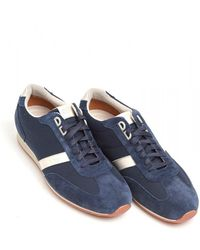 BOSS by Hugo Boss - Orland_lowp_sdny1 Trainers, Suede Leather Navy Blue Sneakers - Lyst