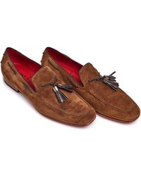 Jeffery West - Tassel Loafer, Red Sole Stone Brown Shoes - Lyst
