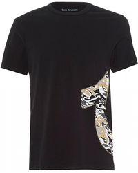 7640425e True Religion - Side Camo Horseshoe T-shirt, Washed Black Tee - Lyst