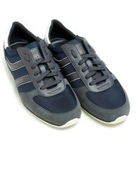 BOSS Orange | Orland_runn_ny Dark Blue Trainers, Low-top Suede Trainers | Lyst
