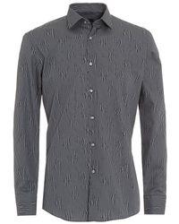 BOSS - Jenno Dark Blue Patterned Slim Fit Shirt - Lyst