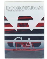 Emporio Armani - Three Pack Boxers, Navy Blue Trunks - Lyst