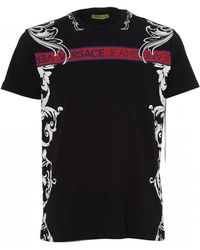 e578881a Lyst - Versace Jeans Baroque Chain Print T-shirt in Black for Men