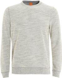 BOSS by Hugo Boss - Woice Jumper, Natural Grey Reversible Sweater - Lyst