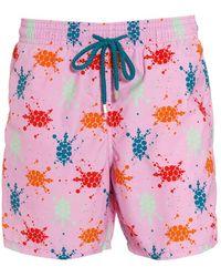 Vilebrequin - Moorea Swim Shorts, Pink Quartz Turtle Splodge Swimming Trunks - Lyst