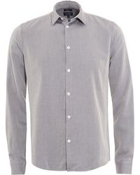 Armani Jeans | Slim Fit Light Grey Zig Zag Shirt | Lyst