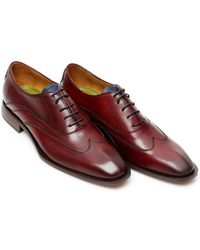 Oliver Sweeney - Alassio Wing Tip Oxford Deep Red Leather Shoes - Lyst