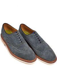 Oliver Sweeney - Bideford Suede Brogue, Lightweight Grey Blue Shoes - Lyst