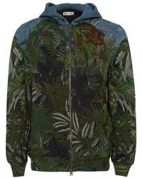 Etro - Green Bomber Jacket, Jungle Print Hoodie - Lyst