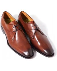 Oliver Sweeney - Albinia Antiqued Dark Tan Leather Derby Shoes - Lyst
