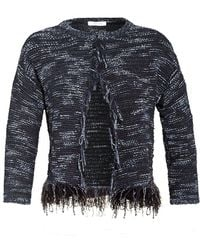 I Blues - Finto Cardigan, Navy Blue Tweed Jacket - Lyst