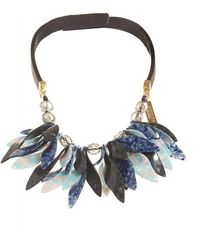 Weekend by Maxmara - Perigeo Necklace, Black Navy Petal Choker - Lyst