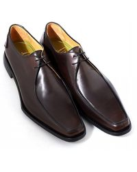 Oliver Sweeney - Napoli Apron Front Dark Brown Leather Derby Shoes - Lyst