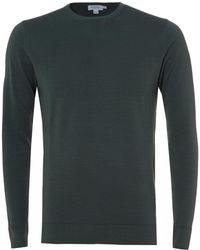 Sunspel - Merino Wool Jumper, Scots Green Sweater - Lyst
