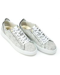 Android Homme - Alfa Low Trainers, Cracked Leather White Trainers - Lyst