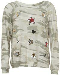 Lauren Moshi - Brenna Camo Sweatshirt, Heart & Stars Pop Print Jumper - Lyst