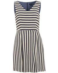 Armani Jeans - Dress, Striped Sleeveless V-neck - Lyst