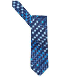 Etro | All Over Assorted Blue Dots Print Tie, Silk Blue Tie | Lyst